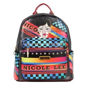 NICOLE LEE PRINT BACKPACK W/ LAPTOP COMPARTMENT